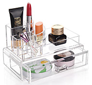 cheap -Textile Plastic Oval Plastic Travel Home Organization, 1pc Girls & Young Women Desktop Organizers Makeups Storage Jewelry Boxes Jewelry