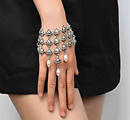 Women's Strand Bracelet Imitation Pearl Handmade Fashion Imitation Pearl Alloy Geometric Jewelry For Special Occasion 1 pcs