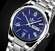 cheap -Men's Quartz Wrist Watch Casual Watch Alloy Band Charm Fashion Silver