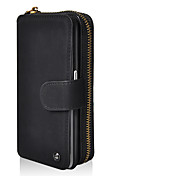 cheap -Case For Samsung Galaxy S8 Plus S8 Card Holder Wallet with Stand Mirror Flip Magnetic Pouch Bag Solid Color Hard PU Leather for S8 Plus S8