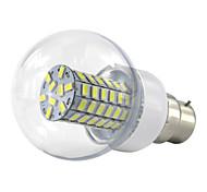 6W B22 LED Globe Bulbs 69 SMD 5730 500-550 lm Warm White Cold White K AC85-265 V
