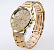 Men's The New Light Gold Watch Case Fake Eyes Roman Digital Scale Vintage Fashion Men's Watch