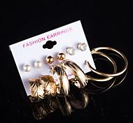 Women's Stud Earrings Hoop Earrings Imitation Pearl AAA Cubic Zirconia Floral Multi-ways Wear Costume Jewelry Pearl Cubic Zirconia Alloy