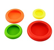 4PCS/Set Vegetable Fruit Huggers Plastic Colorful Food Huggers to Keep Your Food Safe Fresh Kitchen Tools Ramdon Color