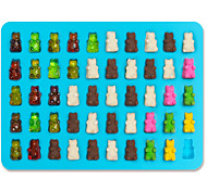 50 Cavity Silicone Gummy Bear Chocolate Mold Candy Maker Ice Tray Jelly Moulds  Random Color