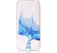 cheap -For Sony Xperia XZ Premium XA Case Cover Blue Fish Tail Pattern Painted Relief High Penetration TPU Material Phone Case XA1 E5