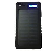 8000mAh banco de la energía de la batería externa 5V 1.0AA Cargador de batería Linterna Carga Solar LCD