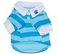 cheap -Cat Dog Shirt / T-Shirt Dog Clothes Stripe Red Blue Cotton Costume For Pets Men's Women's Casual/Daily