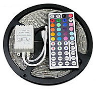 cheap -Z®ZDM Waterproof 5M 24W 300x2835RGB SMD  Light LED Strip Light 44Key IR Remote Controller Kit (DC12V)