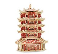 cheap -3D Puzzles Jigsaw Puzzle Toys Famous buildings Architecture 3D Wood Unisex Pieces