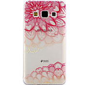 For Samsung Galaxy A3 A5 (2017) Case Cover Diagonal Flower Pattern Drop Glue Varnish High Quality TPU Material Phone Case A3 A5