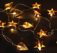 Недорогие -1.5m 10leds 3w струнные огни аккумуляторная мощность теплый белый декор декоративный свет