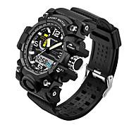 SANDA Мужской Спортивные часы Японский Кварцевый LED Защита от влаги силиконовый Группа Cool Черный