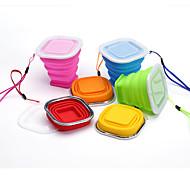 Недорогие -Чашки для путешествий / чашка Складной Посуда в дорогу для Складной Посуда в дорогу Желтый Красный Зеленый Синий Розовый