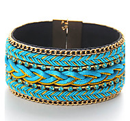 Women's Bangles Jewelry Fashion Punk Leather Alloy Round Jewelry For Special Occasion Sports 1pc