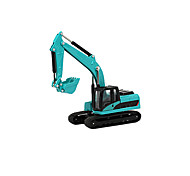 Push & Pull Toys Toy Cars Toys Construction Vehicle Excavator Wheel Excavator Toys Excavating Machinery Metal Alloy Chrome Pieces Kid's