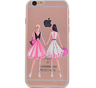 For iPhone 7 Plus 7 Phone Case Girlfriends Girl Pattern Soft TPU Material Phone Case 6S Plus 6S 6 SE 5S 5