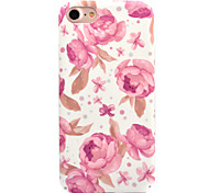 For Apple iPhone 7 7 Plus 6S 6 Plus Case Cover Flower Pattern Decal Skin Care Touch PC Material Phone Case