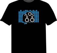 economico -T-shirt con LED 100% cotone 2 batterie AAA
