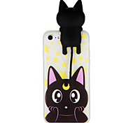 Case for Apple iPhone 7 7Plus 3D Cartoon Cute Cat Pattern Soft TPU Material Back Case Cover For iPhone 6s Plus 6 Plus 6s 6