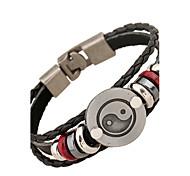 cheap -Men's Leather Leather Bracelet - Natural Fashion Irregular Black Bracelet For Special Occasion Gift Sports