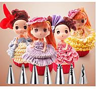 7 Peças Molde Para Bolo para Cupcake Aço Inoxidável Natal Aniversário
