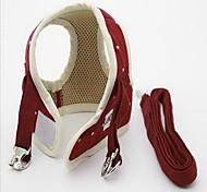 Harness Leash Adjustable Polka Dot British Fabric