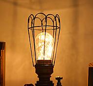 1pc de 1,0w multifunções com o despertador de espelho cosmético levou lâmpada noturna