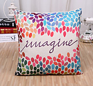 cheap -1 Pcs Fashion Colorful Leaf Pattern Cushion Cover Creative Square Pillow Cover
