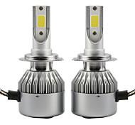2pcs 36W Led Headlight COB C6 Car Headlight Bulbs H1 IP65 6000K White Auto Lamp DC9-36V