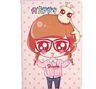 Недорогие -Для apple ipad mini1 2 3/4 чехол для крышки с подставкой флип-паттерн сумка для тела сексуальная леди мультяшный твердая кожа pu