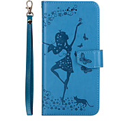 For HUAWEI P10 Lite P10 Phone Case Dancing Girl Embossed Pattern Removable Combo PU Leather Material Phone Case P10 Plus P8Lite 2017 Y6II Y5II