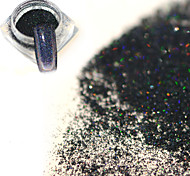 0.2g/bottle Fashion Mysterious Black Holographic Fine Powder Nail Art Laser Glitter Shining Pigment DIY Charm Decoration JX16