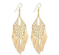 Hot Fashion Simple Elegant Plated Gold/Silver Geometry Tassel Drop Earrings For Women Dangle Long Earrings Jewelry Accessories Bijouterie