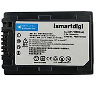 Ismartdigi FH100 7.2V 3900mAh Camera Battery for Sony HDR-SR11E SR12E SR65E