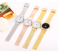cheap -Women's Quartz Wrist Watch Chinese Cool / Casual Watch Stainless Steel Band Casual / Minimalist / Fashion Black / Silver