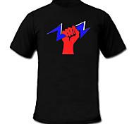 Недорогие -LED-футболка 100% хлопок 2 батареек AAA
