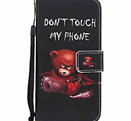 Para huawei p10 plus p10 lite capa capa carteira carteira com suporte flip padrão caixa de corpo inteiro urso duro PU couro p10 p8 lite