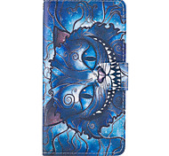 cheap -Case For LG G6 G5 Case Cover The Blue Cat Pattern PU Leather Cases for LG G3