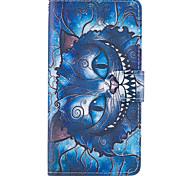 Недорогие -Для яблока iphone 7 7 плюс iphone 6s 6 плюс iphone se 5s 5 чехол для корпуса синие модели кошки PU кожаные чехлы