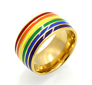 Men's Women's Band Rings Statement Rings Ring Circular Unique Design Geometric Fashion Vintage Personalized Rock Euramerican Rainbow