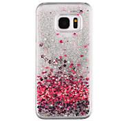 preiswerte -Hülle Für Samsung Galaxy S8 Plus S8 Mit Flüssigkeit befüllt Transparent Muster Rückseite Herz Glänzender Schein Hart PC für S8 Plus S8 S7