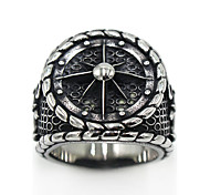 Men's Women's Ring Jewelry Logo Style Costume Jewelry Gothic Stainless Steel Circle Jewelry For Special Occasion Party/ Evening Daily