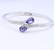 Women's Cuff Bracelet Jewelry Natural Fashion Vintage Handmade Costume Jewelry Crystal Alloy Oval Irregular Jewelry For Wedding Party