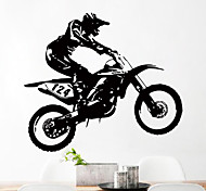 Motorcycle Racing Driver Vinyl Wall Sticker Bedroom Decorative Wall Decals Home Decor For Kids Room Decoration Living Room Mural