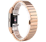 For Fitbit charge 2 Stainless Steel Watch Band Strap Metal Clasp Link Bracelet Butterfly Buckle Watch Band