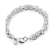 Sweet 20cm Women's Silver Copper Chain & Link Bracelet(Silver)(1 Pc) Jewelry Christmas Gifts