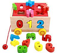 Недорогие -Конструкторы Игры с последовательностью Для получения подарка Конструкторы Оригинальные и забавные игрушки Дерево 2-4 года 5-7 лет Игрушки