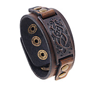 Men's Leather Bracelet Jewelry Natural Fashion Costume Jewelry Leather Alloy Irregular Jewelry For Special Occasion Gift Sports