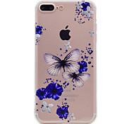 Недорогие -Для iphone 7 плюс 7 футляр для телефона бабочка и цветочным узором мягкий материал для телефона tpu для телефона 6 с плюс 6 плюс 6 с 6 с 5